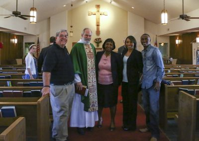 Fever United Soccer club members and leaders of St Martin Episcopal Church