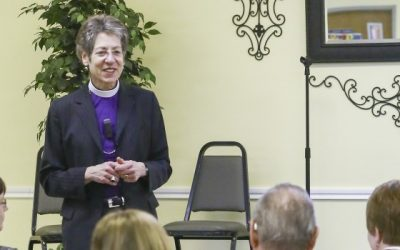 Presiding Bishop Katharine Jefferts Schori at St. Martin's town hall forum on February 9, 2014