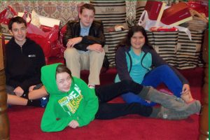 St. Martin-in-the-Fields Episcopal Church youth and shoes collected for outreach
