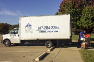 Union Gospel Mission picks up coats and shoes and food from St. Martin's Episcopal Church