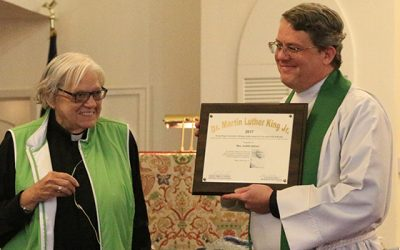 Judith Upham receives civic & faith activism award